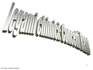 Legami chimici: Concetti Base
