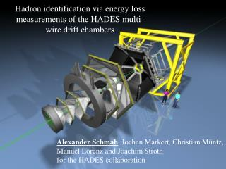 Hadron identification via energy loss measurements of the HADES multi-wire drift chambers