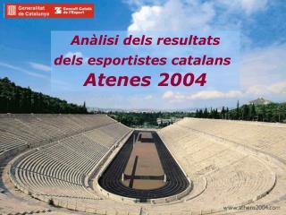 Anàlisi dels resultats dels esportistes catalans Atenes 2004