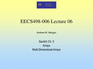 EECS498-006 Lecture 06