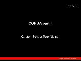 CORBA part II