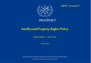 Intellectual Property Rights Policy Mark Palmer – Vice Chair 24 May 2006