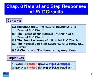 Chap. 8 Natural and Step  Responses of RLC  Circuits