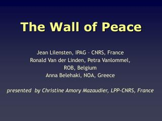 The Wall of Peace