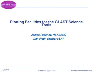 Plotting Facilities for the GLAST Science Tools
