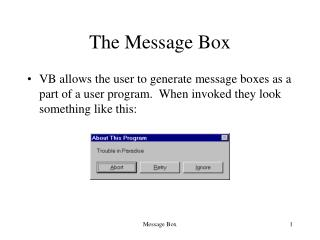 The Message Box