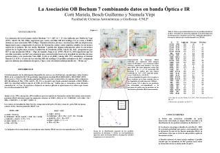 La Asociación OB Bochum 7 combinando datos en banda Óptica e IR