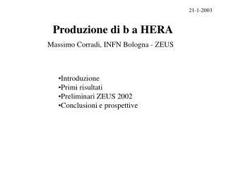 Produzione di b a HERA