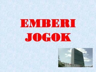 EMBERI JOGOK