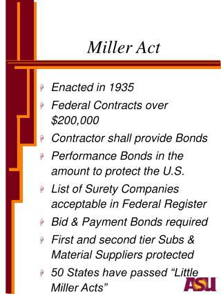 Miller Act
