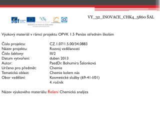 VY_32_INOVACE_CHK4_5860 ŠAL
