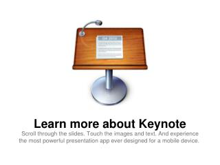 Learn more about Keynote