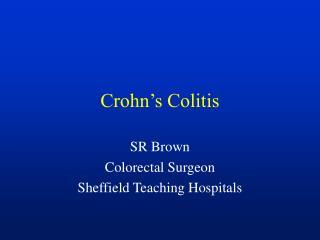 Crohn�s Colitis