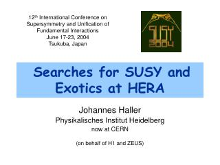 Searches for SUSY and Exotics at HERA