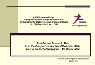 ASEM Business Forum   Strengthening Asia-Europe Economic Ties