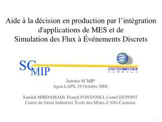 Aide à la décision en production par l'intégration  d'applications de MES et de