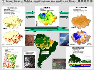 Amazon Scenarios:  Modeling Interactions Among Land Use, Fire, and Climate     CD-05, LC-14