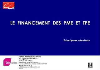 LE  FINANCEMENT  DES  PME  ET  TPE