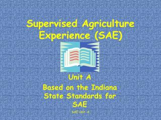 Supervised Agriculture Experience SAE
