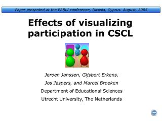 Effects of visualizing participation in CSCL