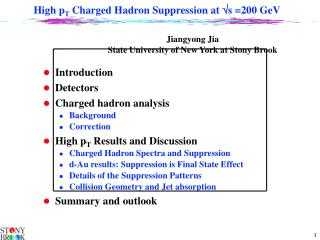 High p T  Charged Hadron Suppression at   s =200 GeV