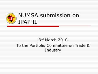 NUMSA submission on IPAP II