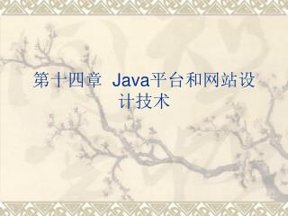 第十四章   Java 平台和网站设计技术