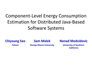 Component-Level Energy Consumption Estimation for Distributed Java-Based Software Systems