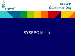 SYSPRO Mobile