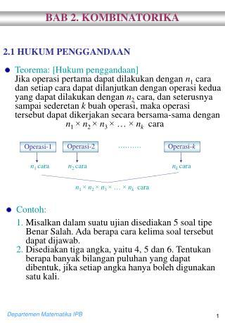 2.1 HUKUM PENGGANDAAN Teorema: [Hukum penggandaan]