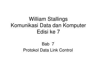 William Stallings Komunikasi Data dan Komputer  Edisi ke 7