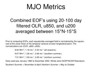 %Variance explained by each EOF