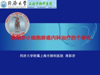 晚期非小细胞肺癌内科治疗的个体化