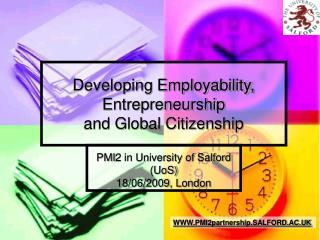 Developing Employability, Entrepreneurship and Global Citizenship