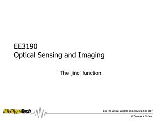 EE3190  Optical Sensing and Imaging