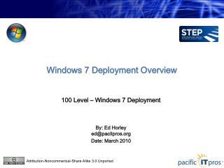 Windows 7 Deployment Overview