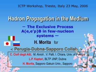 Hadron Propagation in the Medium
