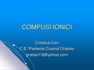 COMPUSI IONICI