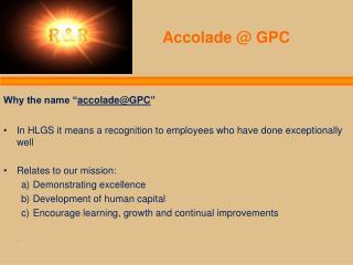 Accolade @ GPC