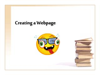 Creating a Webpage