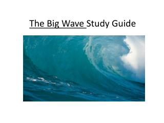 The Big Wave  Study Guide