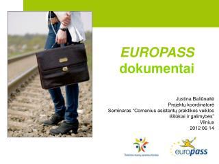 EUROPASS dokumentai