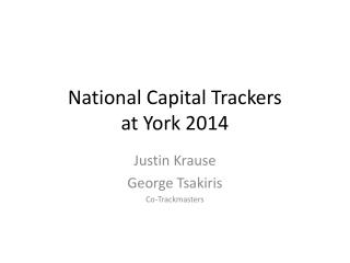 National Capital Trackers at York 2014