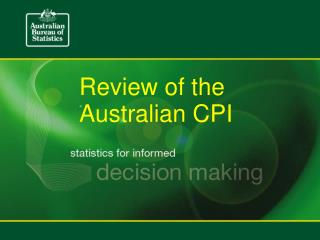 Review of the Australian CPI