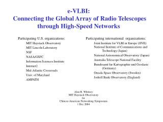 e-VLBI:  Connecting the Global Array of Radio Telescopes through High-Speed Networks