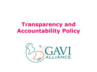 Transparency and Accountability Policy