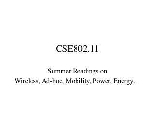 CSE802.11