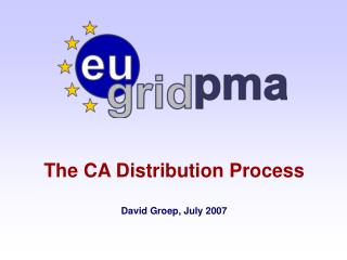 The CA Distribution Process  David Groep, July 2007
