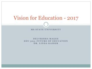 Vision for Education - 2017