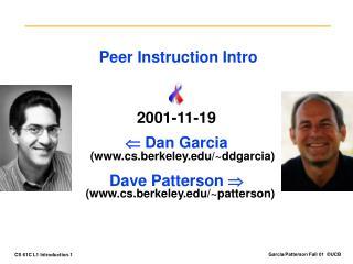 Peer Instruction Intro